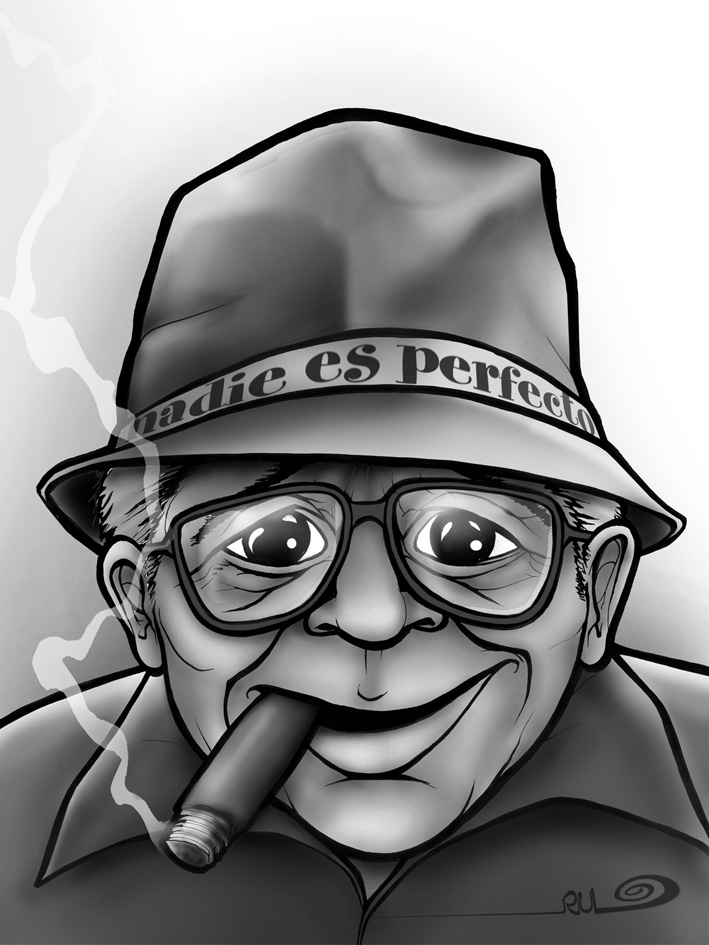 Caricatura de Billy Wilder