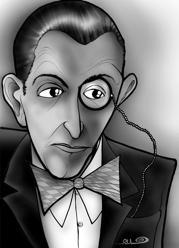 Caricatura de Fritz Lang