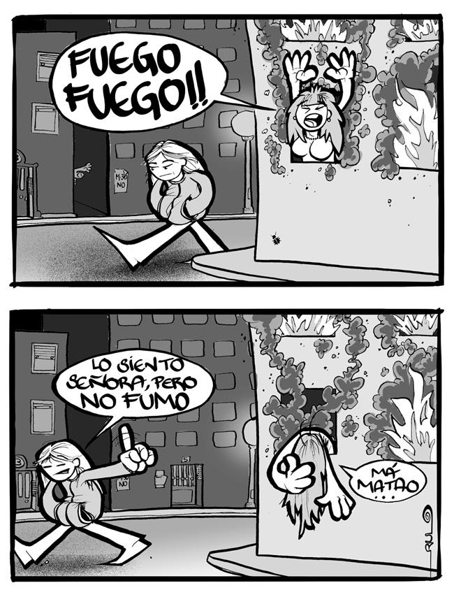 """Viñeta """"Fuego, fuego"""""""