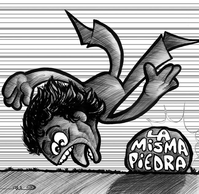 """Ilustración """"La misma piedra"""""""