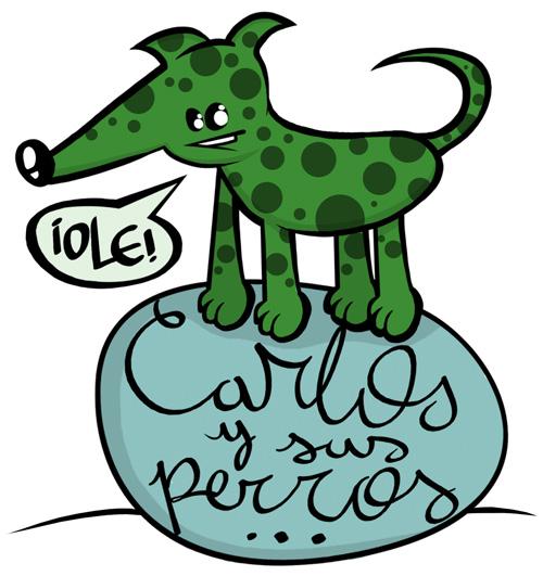 """Logo Grupo de Flamenco """"Carlos y sus perros"""""""