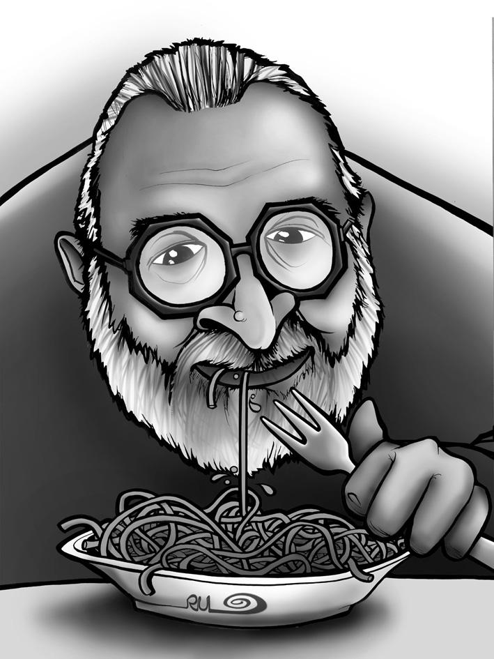 Caricatura de Sergio Leone