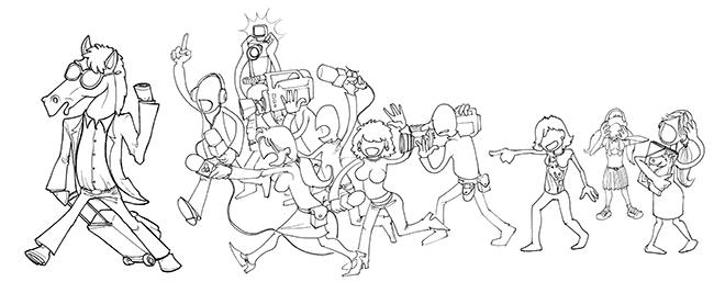 Bocetos 4 Ilustración CABALLOS FAMOSOS