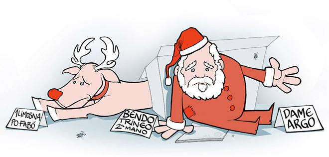 Ilustración Christmas NAVIDADES EN CRISIS (Traylers de Publicidad)