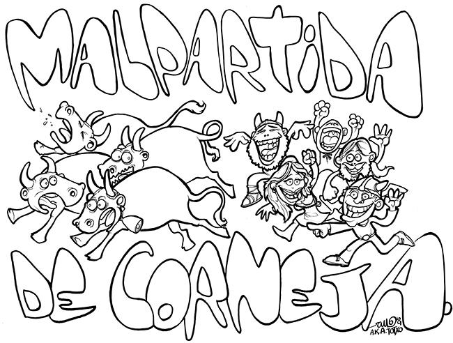 Ilustración Malpartida 2009 BARBAROS DE FIESTA (Malpartida de Corneja, Ávila)