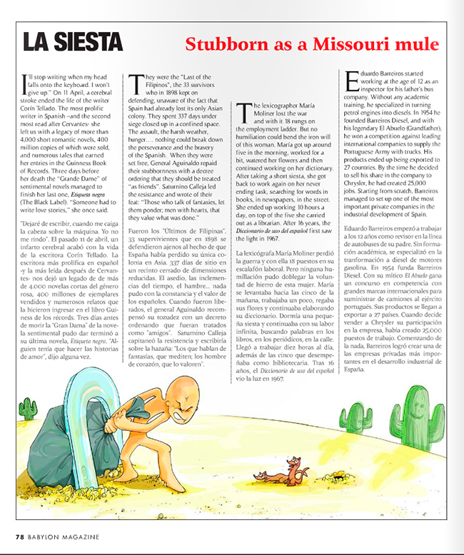 Ilustración TESTARUDO (Babylon Magazine nº 6)