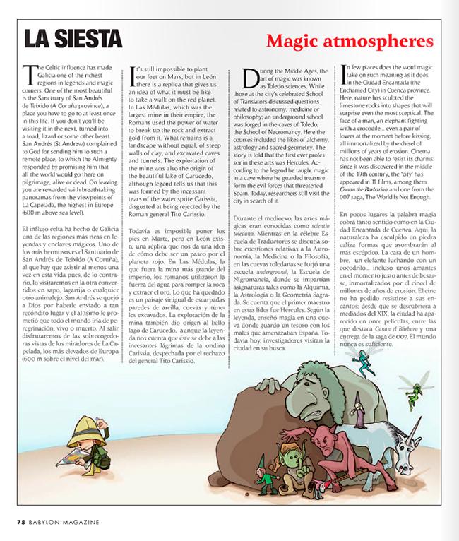 Maqueta final LUGARES MAGICOS (Babylon Magazine nº 8)