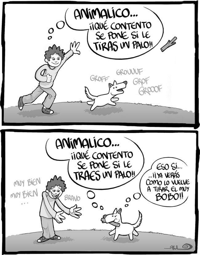 "Viñeta ""Animalico"" (La Mano Invisible nº006 Parque 2)"