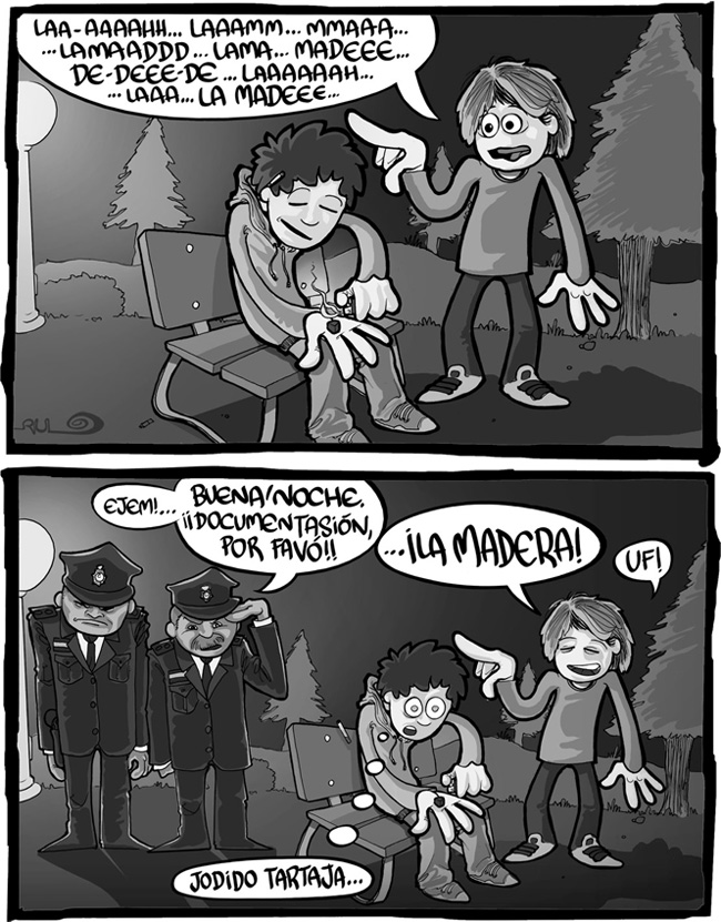 "Viñeta ""Jodido tartaja"" (La Mano Invisible nº006 Parque 5)"