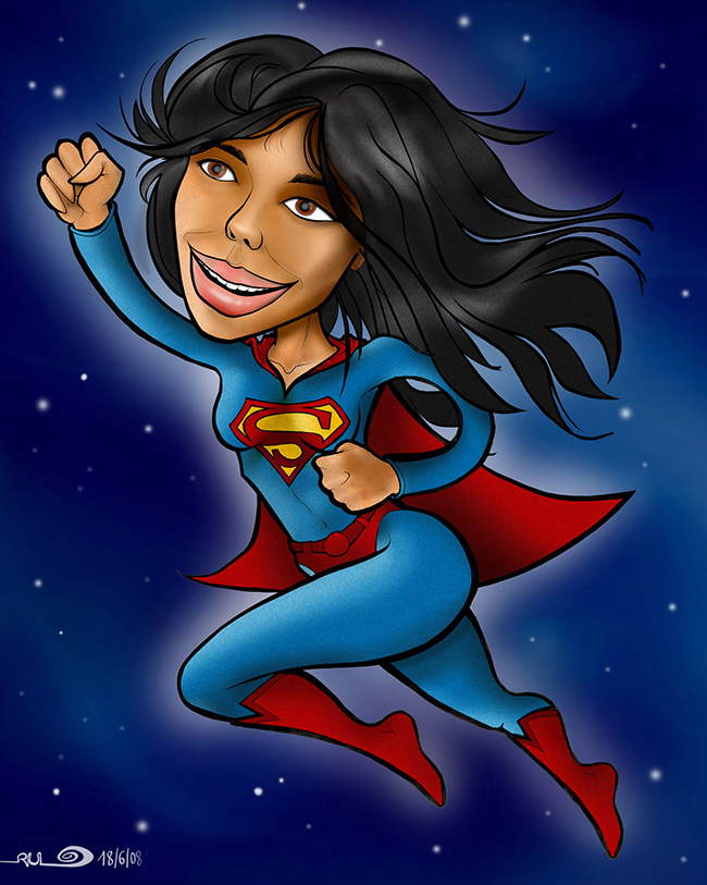 "Ilustración ""Superwoman"""