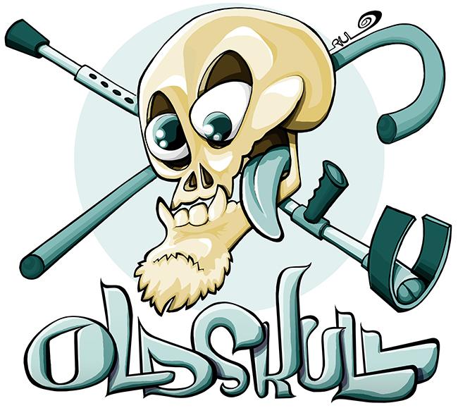 Ilustración Logo OLD SKULL