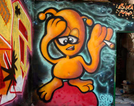 Graffitti MARCIANO FUMAO (Aluche, Madrid)