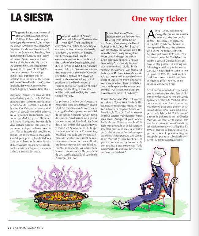 Maqueta final LA MUERTE EN ESPAÑA (Babylon Magazine nº 7)