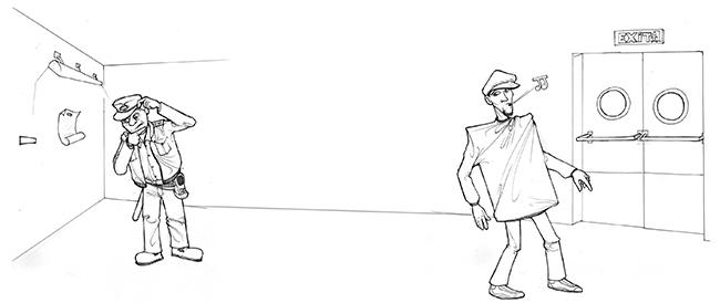 Boceto 2 Ilustración EL GRAN ROBO