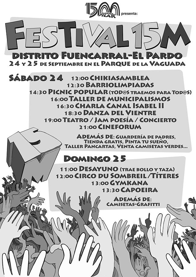 Cartel FESTIVAL 15M Barrio del Pilar
