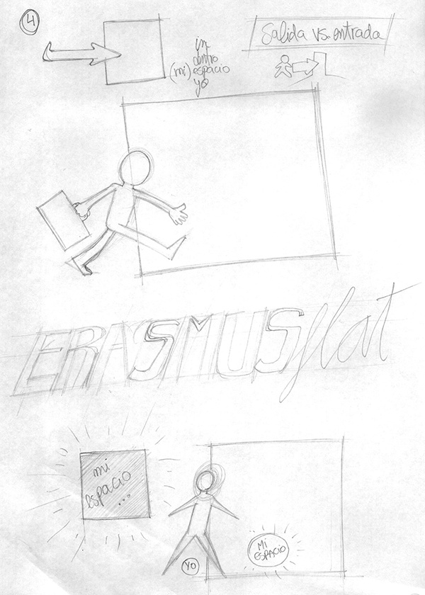 Bocetos Logo ERASMUSFLAT 4