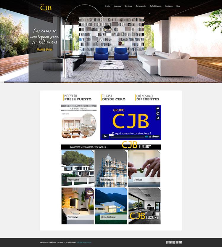 Diseño y creación de web Home GRUPO CJB 1