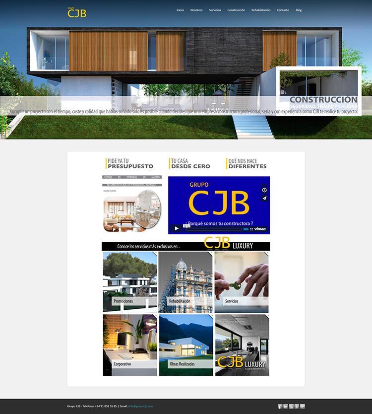 Diseño y creación de web Home GRUPO CJB 2