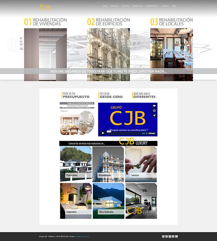 Diseño y creación de web Home GRUPO CJB 3