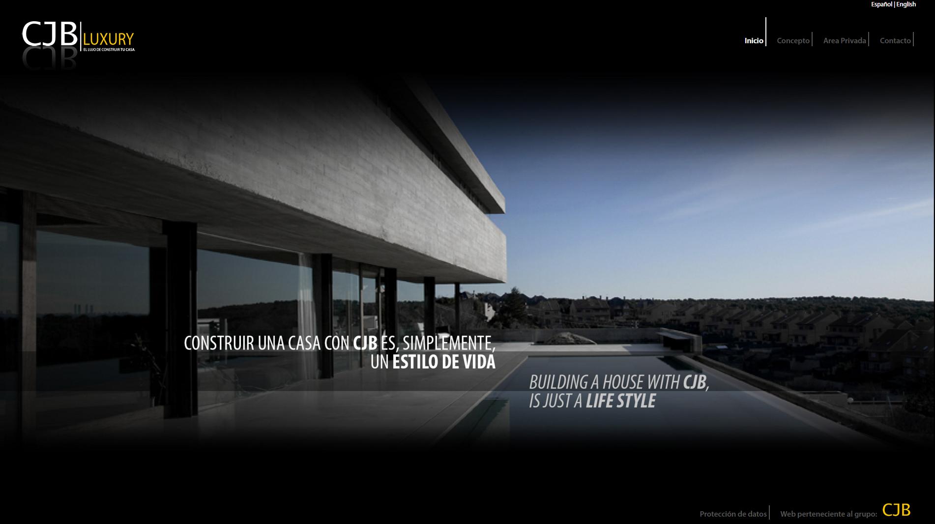 Diseño y creación de web Home CJB LUXURY 2