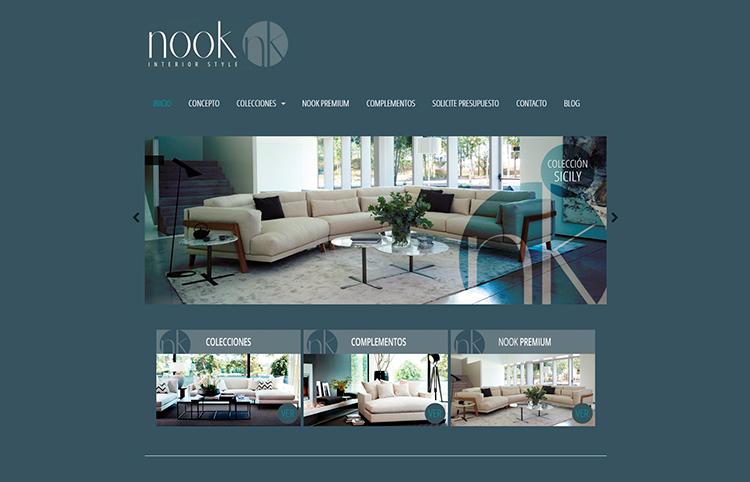 Diseño y creación de web Home NOOK INTERIOR STYLE 3
