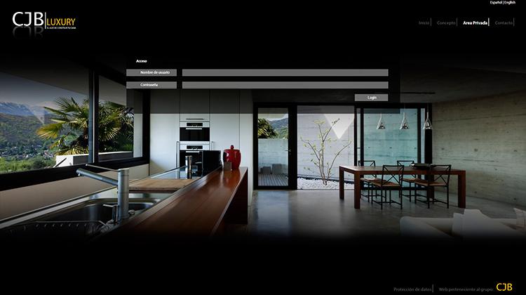 Diseño y creación de web Area privada CJB LUXURY