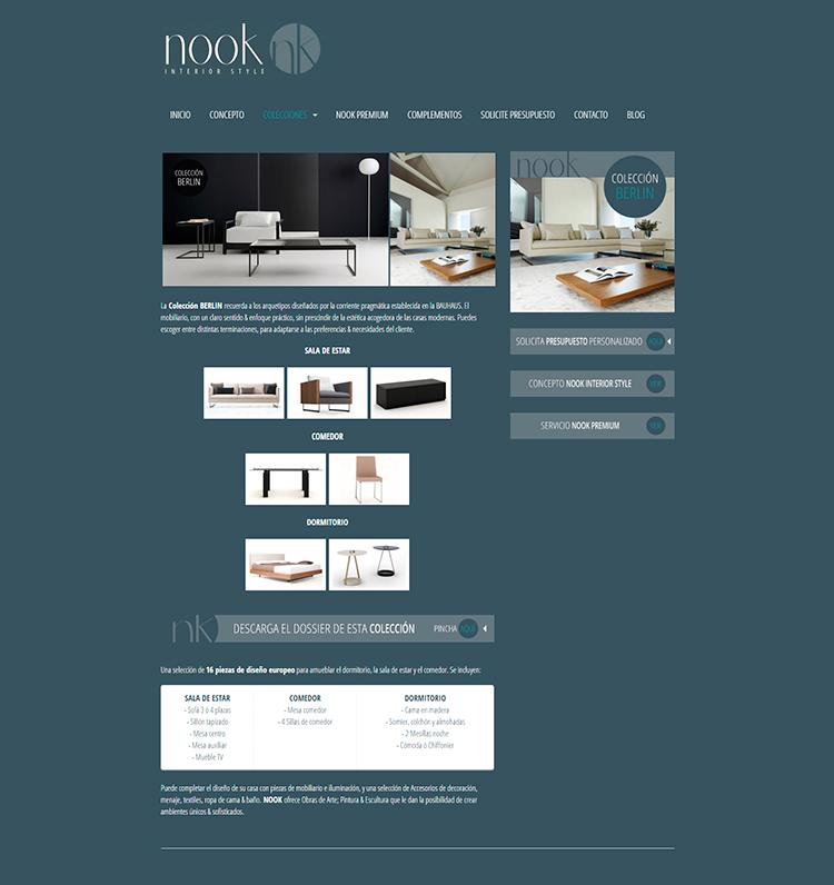 Diseño y creación de web Colecciones NOOK INTERIOR STYLE 1