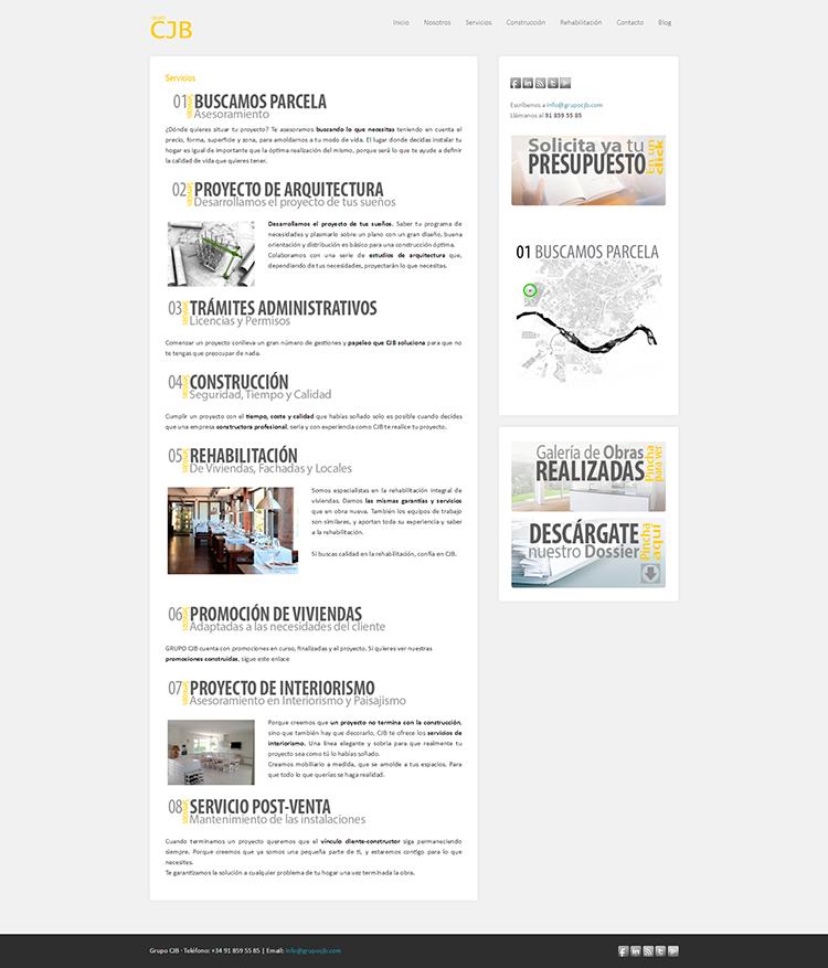 Diseño y creación de web Servicios GRUPO CJB