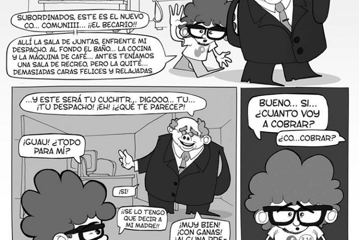 Comic CAFEPASTAS Y OTRAS RUTINAS DE BECARIO n 1 PRIMER DIA