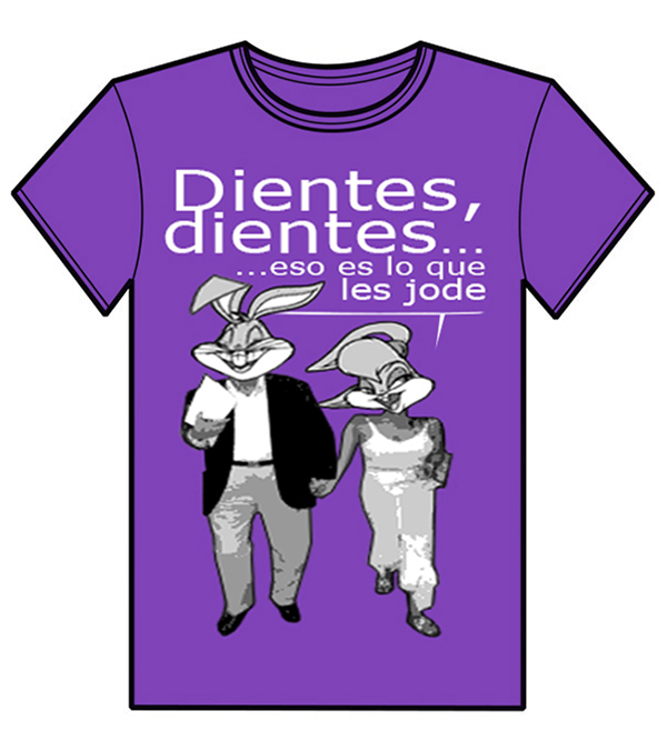 Diseño camiseta DIENTES DIENTES
