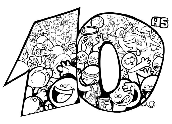 Ilustración camisetas 10 Aniversario PARQUEOLIMPIADAS