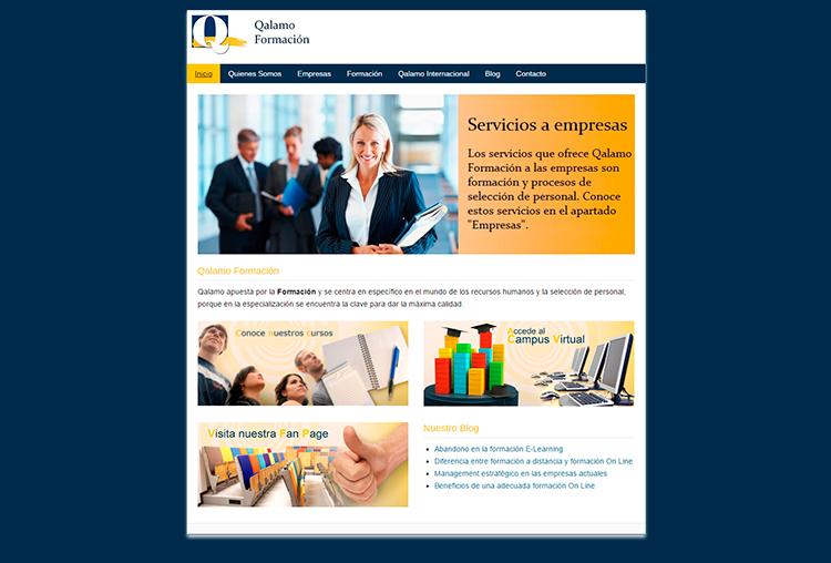 Diseño y creación web QALAMO FORMACION Home