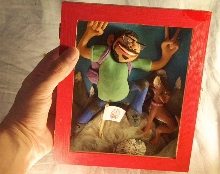 Retrato en plastilina EL CHINO ESCALANDO 3