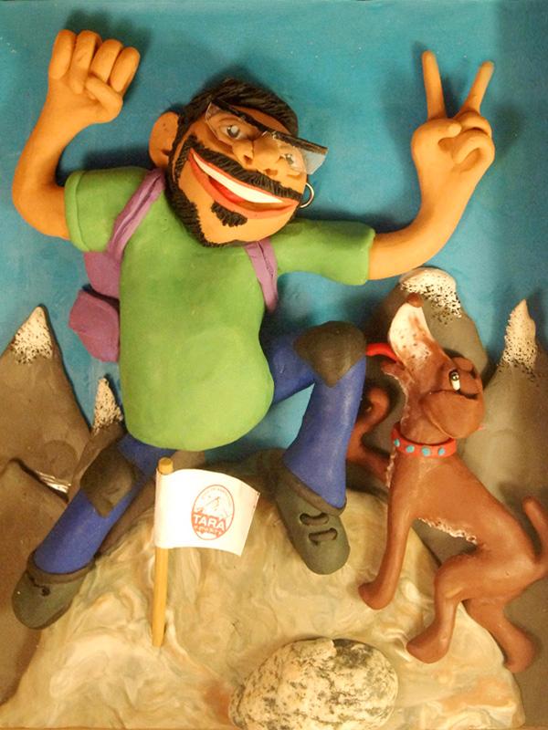 Retrato en plastilina EL CHINO ESCALANDO 4