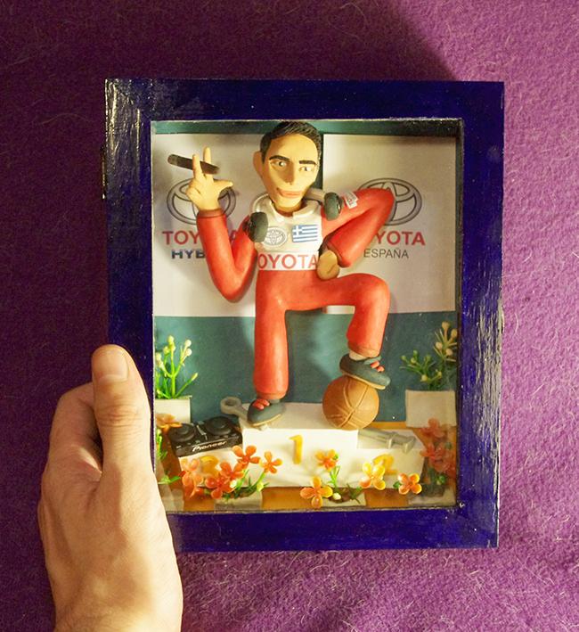 Retrato en plastilina SPIROS CAMPEON DE RALLY 2