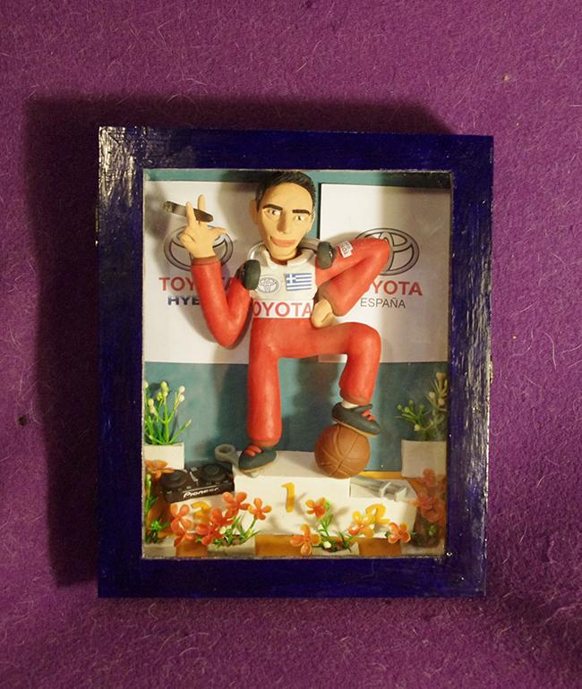 Retrato en plastilina SPIROS CAMPEON DE RALLY 5
