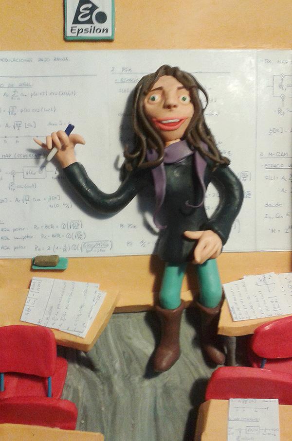 Retrato en plastilina MARIA DANDO CLASES 1
