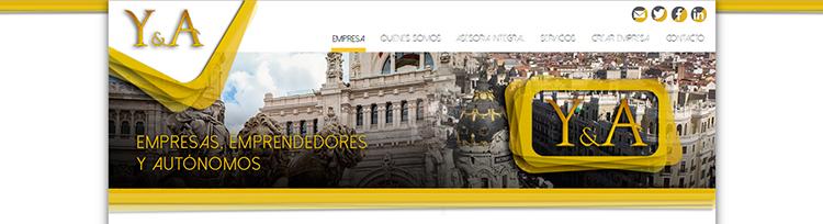 Diseño web Home 3 YUSTE Y ASOCIADOS