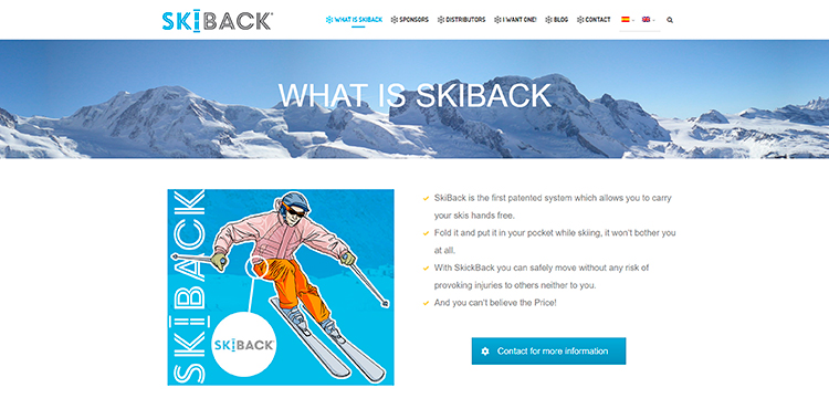 Diseño y creación de web What is SKIBACK