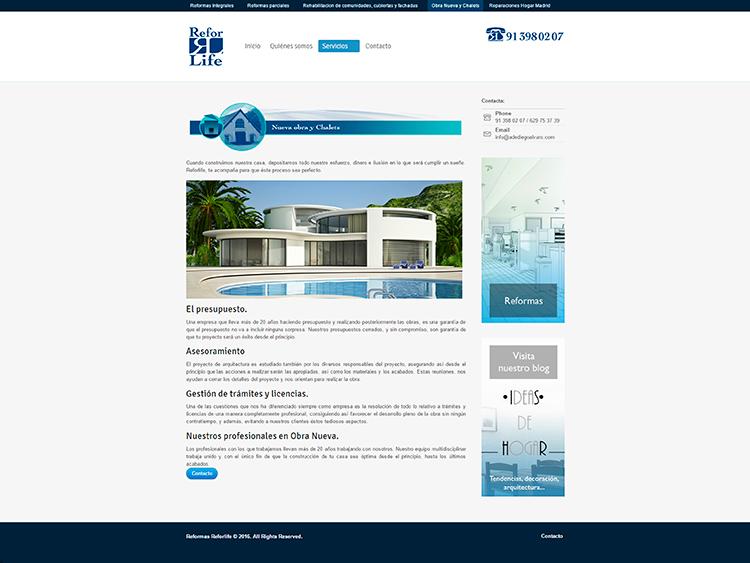Diseño y creación de web Servicios REFORLIFE 1
