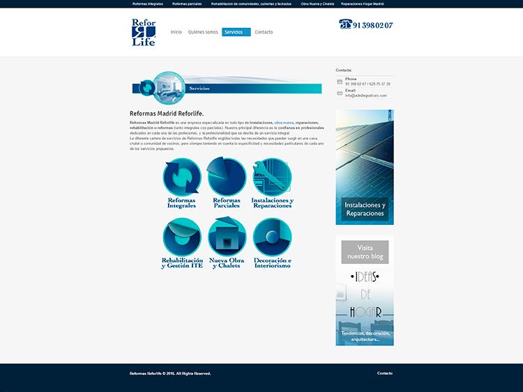 Diseño y creación de web Servicios REFORLIFE