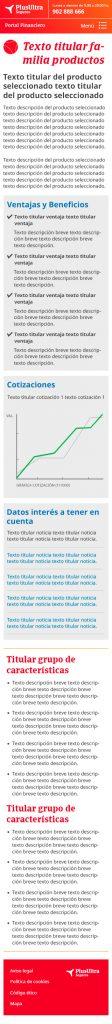 Diseño web Responsive Producto SEGUROS PLUS ULTRA 320