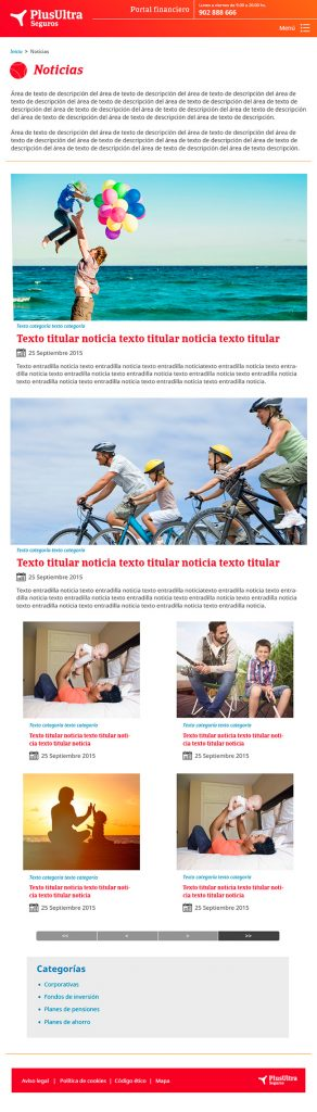 Diseño web Responsive Subhome SEGUROS PLUS ULTRA 768