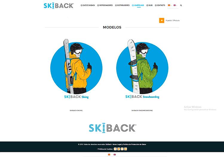Diseño y creación de web Quiero uno SKIBACK
