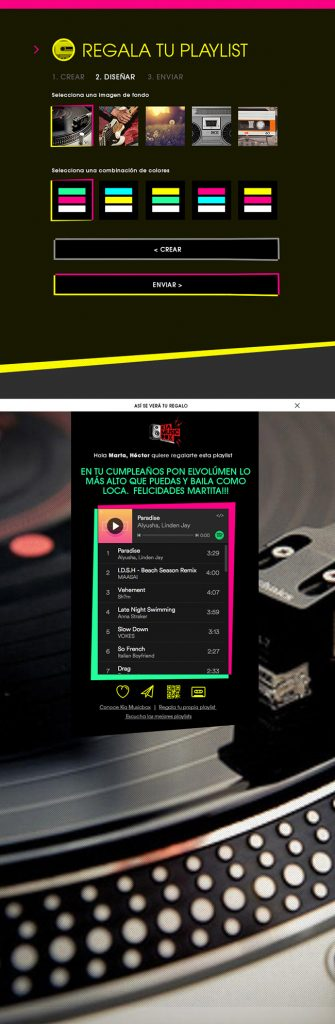 Diseño web Responsive Regala lista KIA MUSIC BOX 768