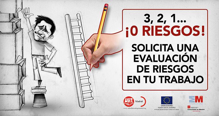 Ilustración y diseño carteles Campaña PREVENCION UGT MADRID 1