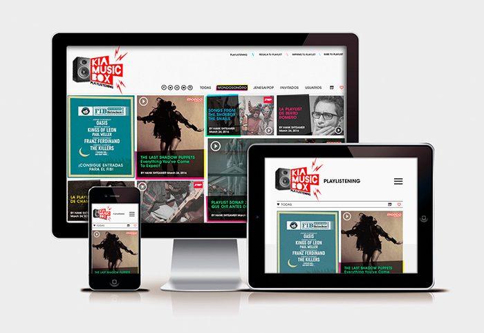 Diseño web Responsive KIA MUSIC BOX