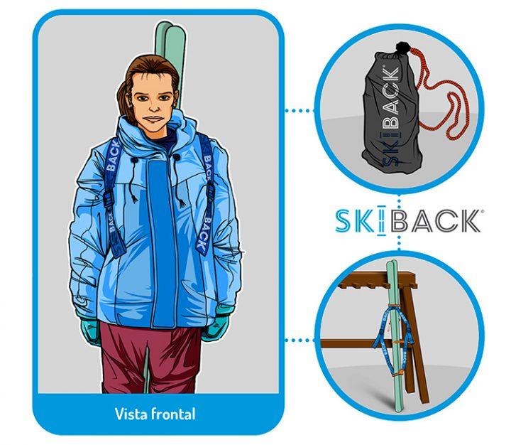 Ilustraciones para animación SKIBACK