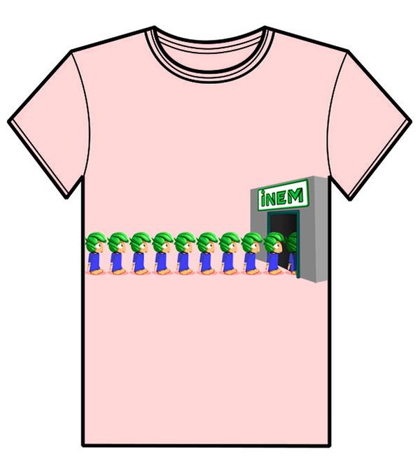 Diseño camiseta COMO LEMMINGS EN EL INEM