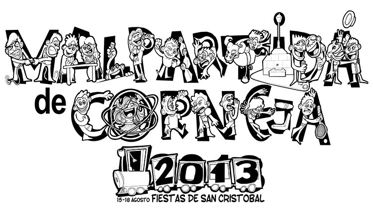 Ilustración cartel MALPARTIDA DE CORNEJA 2013